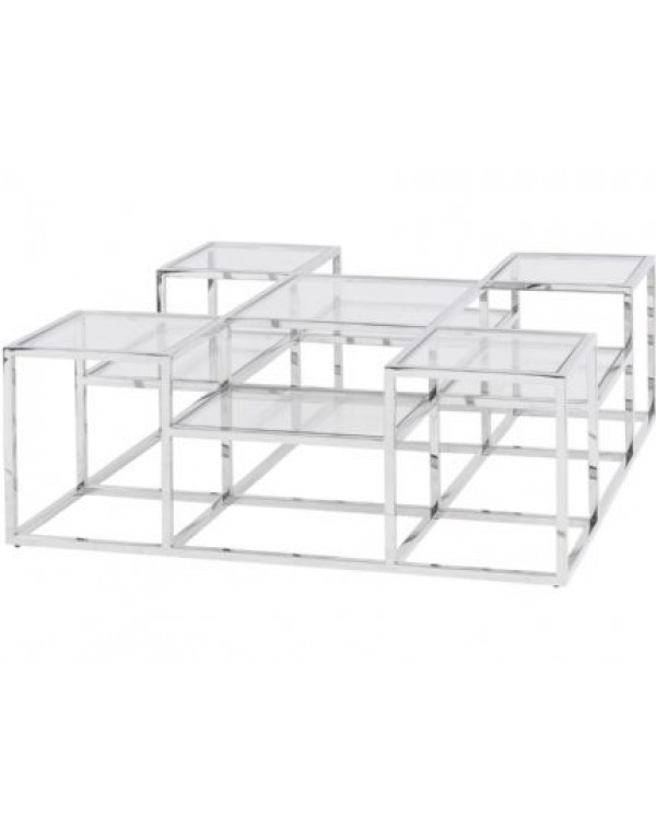 Gatsby Square Stainless Steel Coffee Table